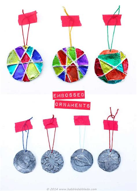 Handmade Ornament Ideas Adults - ornaments 5 minute embossed ornaments