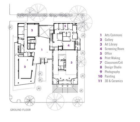floor plan art gallery of lunder arts center bruner cott associates 13