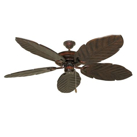 Leaf Ceiling Fan Blades by Wine Raindance 125 Series Ceiling Fan Real Wood Carved