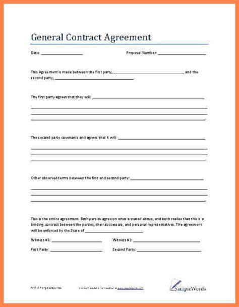 6 contract agreement between two parties template