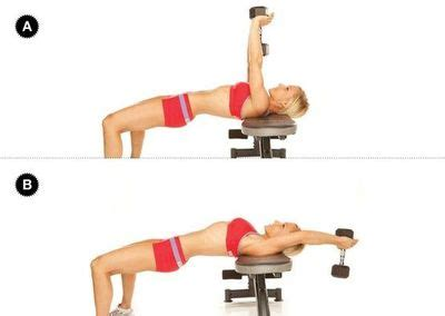 dumbbell cross bench pullover cross bench pullover set up support your shoulders on the br fitness juxtapost