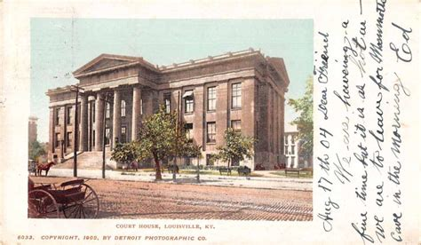 Louisville Kentucky Court Search Louisville Kentucky Court House By Detroit Mailing Antique Pc Z39698 L