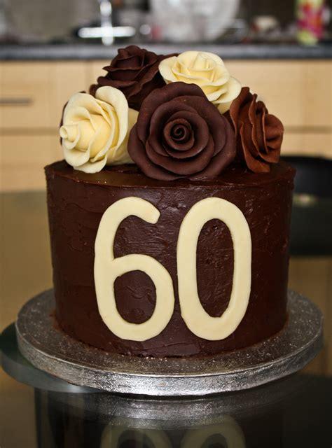 60th Birthday Cake by Chocolate Roses Birthday Cake Vickylizzy