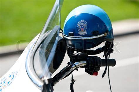Motorrad Police Helm by Us Police Motorrad Helm Stockfoto Colourbox