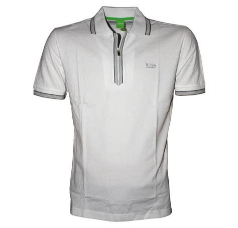 Ziper Polos hugo white philson half zipper polo shirt polo