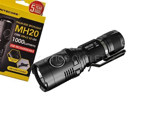 Nitecore Mh20 Flashlight 1000 Lumens nitecore mh20 1000 lumen compact usb rechargeable led