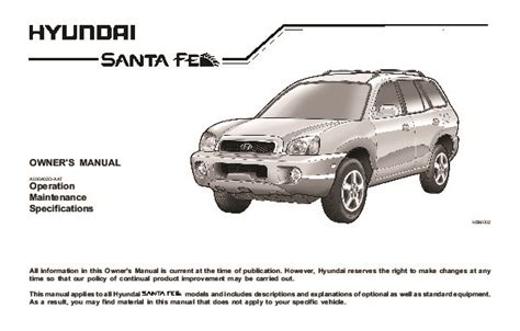 old car repair manuals 2003 hyundai santa fe auto manual 2004 hyundai santa fe owners manual
