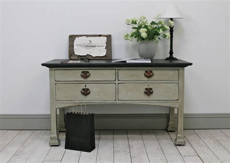 distressed painted sofa tables distressed antique painted console table by distressed but
