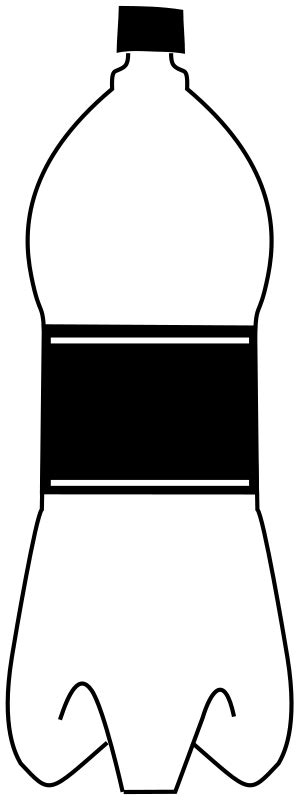 black and white chagne bottle clipart empty bottle black white