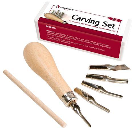 Wood Carving Tools Set Isi6 Lino Cut Tools Cukil Kayu Pahat Ukir Heritage Arts Linoleum And Vinyl Carving Set Material