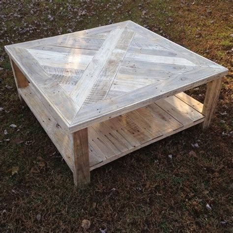 Pallet Wood Coffee Table Handcrafted Squared Pallet Coffee Table Pallet Furniture Diy