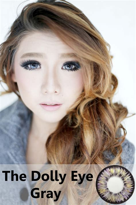 softlens dolly eye gray 22 8mm softlens