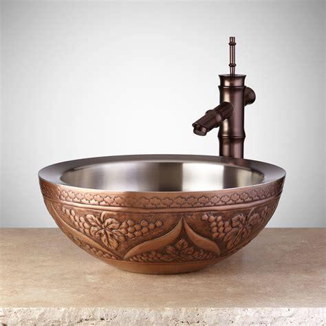 copper vessel sinks ebay signature hardware 16 quot liatris double wall copper vessel