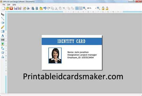 create printable id cards new designs for school id cards downloads