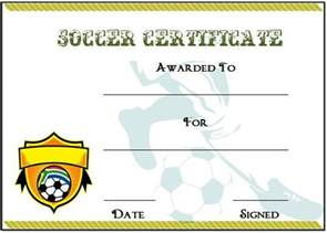 soccer certificate template 30 soccer award certificate templates free to