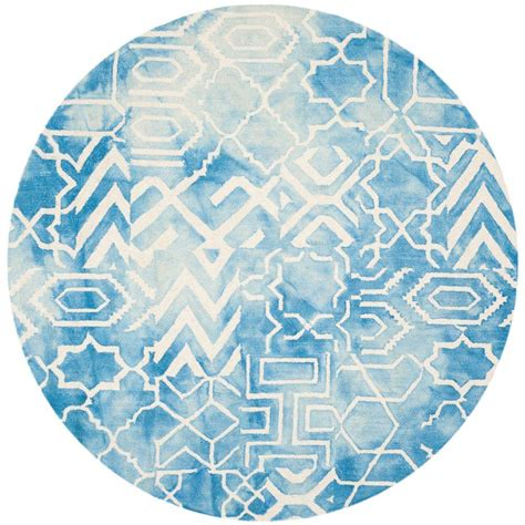 7 Foot Area Rugs by Safavieh Dip Dye Blue Ivory 7 Ft X 7 Ft Area Rug