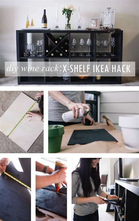 ikea bar hack diy wine rack an x shelf ikea hack ikea hack and collage