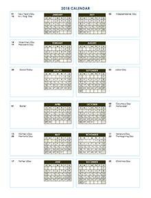 Calendar 2018 Printable Vertical Free 2018 Yearly Calendar Printable Yearly