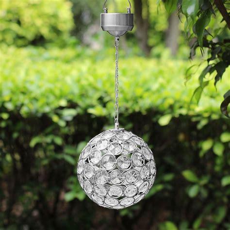 solar power hanging christmas balls colour changing hanging light iwoot