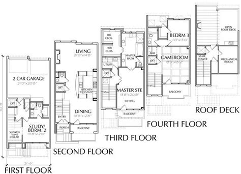 townhouse floor plan luxury 51 best images about p l a n s on