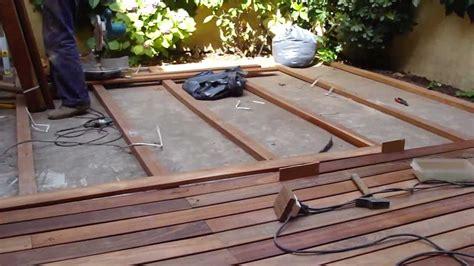 deck madera instalacion decks de madera curupay plastificadora