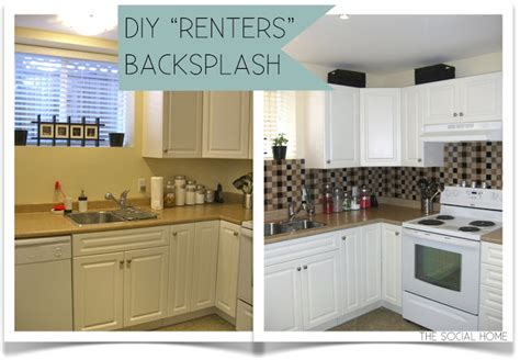 cheap do it yourself kitchen backsplash all you need is diy quot renters quot backsplash with vinyl tile