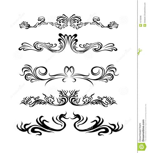 different design styles lines design elements of different styles royalty free