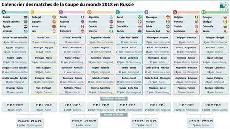 Madagascar Calendrier 2018 Mondial 2018 Le Calendrier Complet L Express