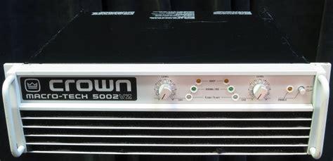 Power Crown Macro Tech 5002 Vz crown macro tech 5002vz lificador de potencia u s