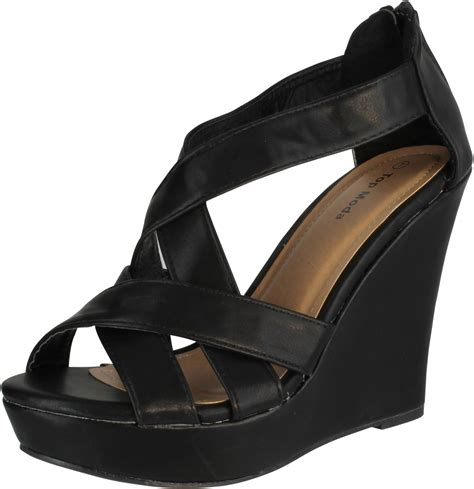 wedge heel gladiator sandals top moda ella 18 s gladiator wedge heel sandals ebay