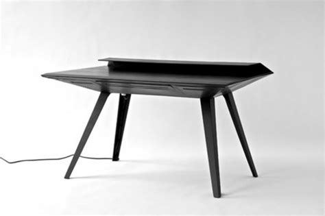 futuristic l shaped desk for modern workspaces digsdigs futuristic desk 117 inspired by stealth bombers digsdigs