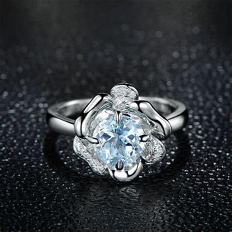 engagement ring set aquamarine ring from