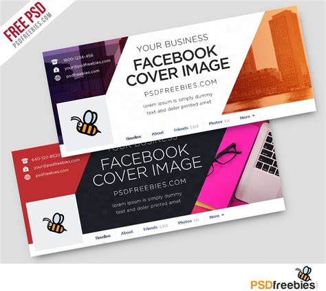 corporate facebook covers free psd template psdfreebies