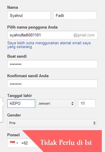cara buat gmail tanpa no telepon cara daftar gmail tanpa verifikasi no hp terbaru 2015