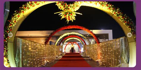 a wedding planner indian wedding hall and mandap entrance