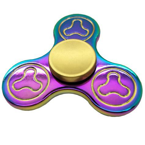 Rainbow Tri Fidget Spinner Multi Color Acak tri spinner fidget spinner rainbow color quite fidget spinner edc stock ebay