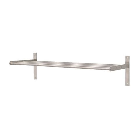 Laundry Room Shelf With Hanging Rod - grundtal towel hanger shelf ikea