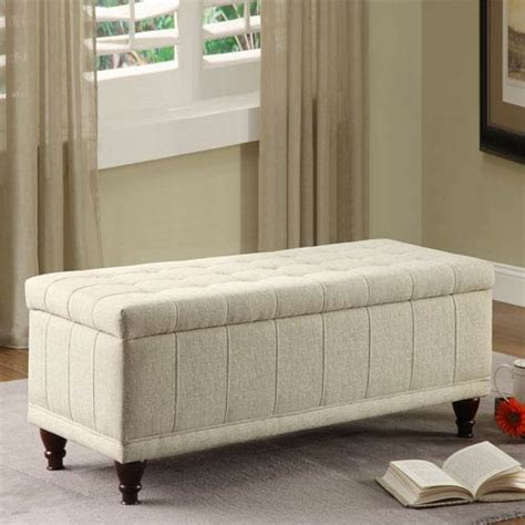 Small Upholstered Storage Bench Tufted Beige Upholstered Storage Bench Homehills Storage