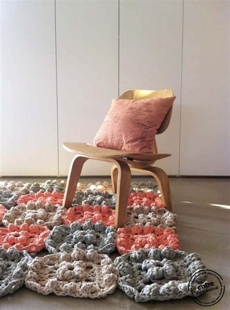 crochet for home decor handmade crochet rugs floor pillows and poufs in vintage