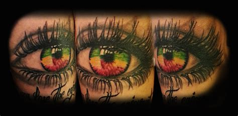 jamaican tattoos eye with jamaican colors by dzsedi on deviantart