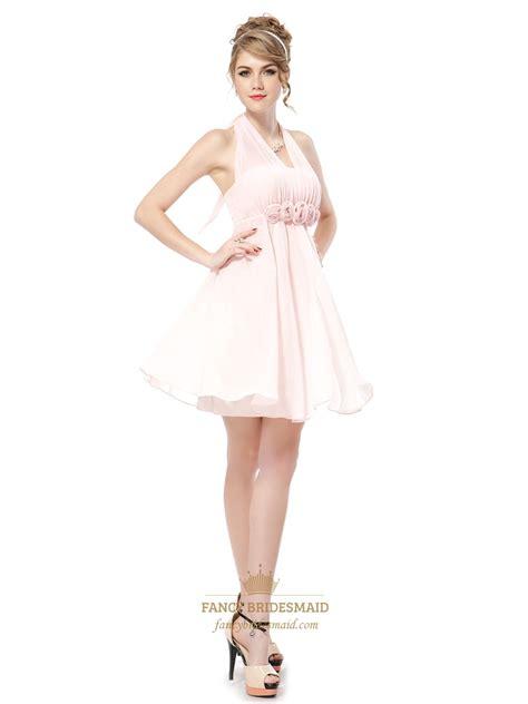 light pink halter bridesmaid dresses petal pink junior