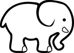 elephant template elephant bw clip at clker vector clip
