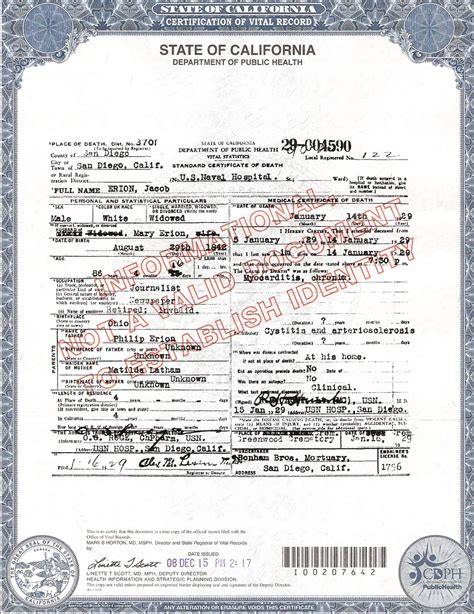 california death certificate the last refuge