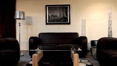 canapé cuir qualité supérieure salon marocain moderne decoration