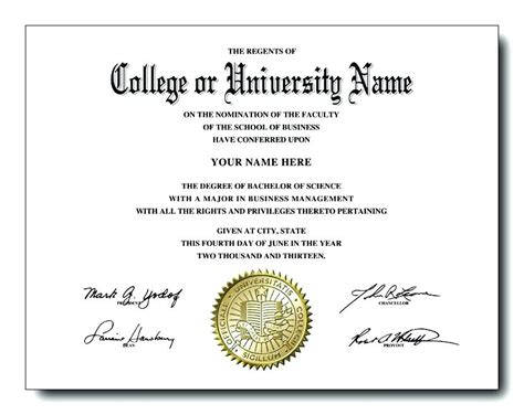 Blank College Diploma Template Printable Fake Templates Idea High School Certificates With Seal Diploma Seal Template