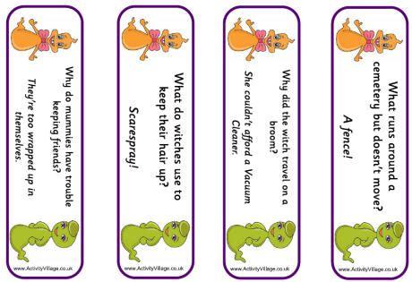printable joke bookmarks ghost bookmarks jokes