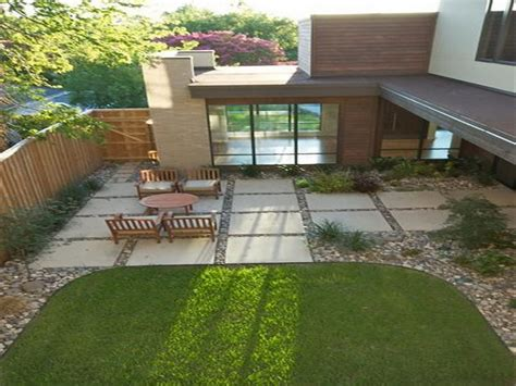 inexpensive outdoor patio ideas large square concrete