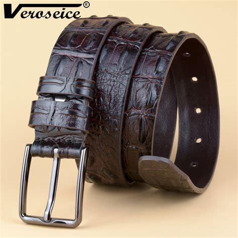 Always In Fashion Luxurious Leather by Veroseice Fashion Luxury Crocodile Skin Design Belt