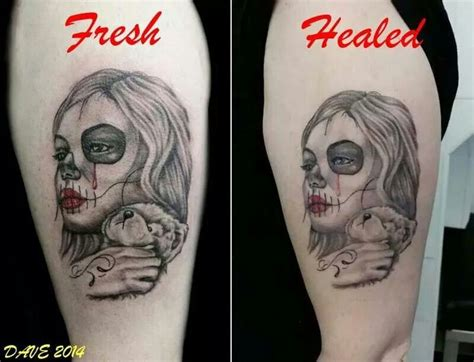 black tattoo healing and turning grey image gallery healed tattoo