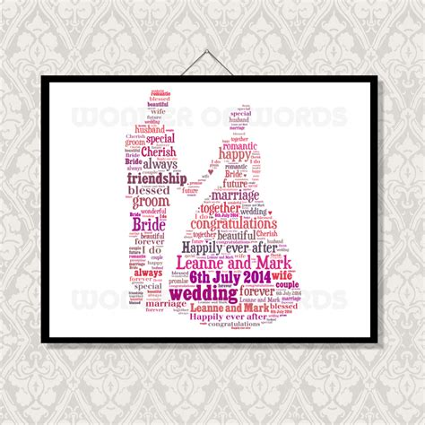 Wedding Word wedding word cloud word unique gifts of words